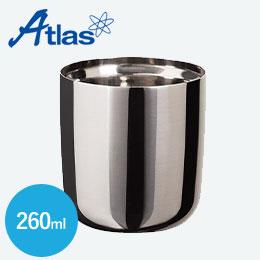 アトラス 真空ステンレスロックグラス260mlクリーンミラー手磨き