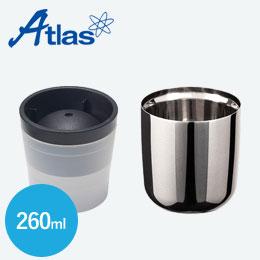アトラス 磨き上げステンレスロックグラス260ml+俺の丸氷(吉川国工業)セット