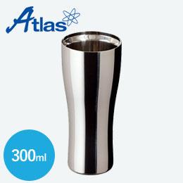 アトラス 真空ステンレスタンブラー300mlクリーンミラー手磨き