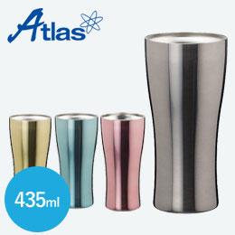 アトラス 真空タンブラーチタンコーティング435ml