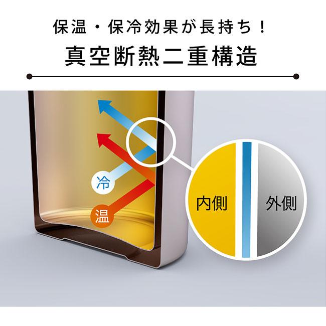アトラス 軽量ワンタッチマグボトル500ml(atASW-500)保温・保冷効果が長持ち!真空断熱二重構造