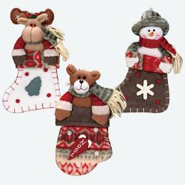 クリスマスフェルトブーツ