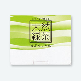 緑茶入あぶらとり紙(POP UP)