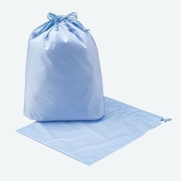 無地巾着袋(ブルー)