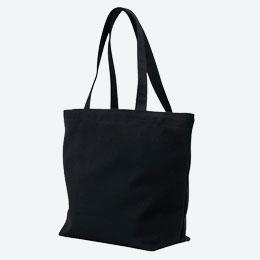 キャンバストート(横型/大)(黒)