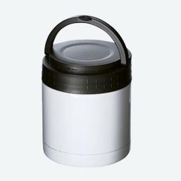 ステンレスフードポット(ハンドル付)(300ml)(白)