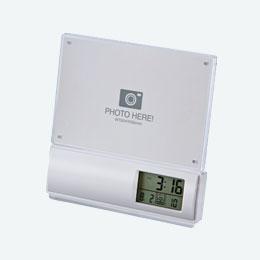 フォトフレーム電波時計(白)