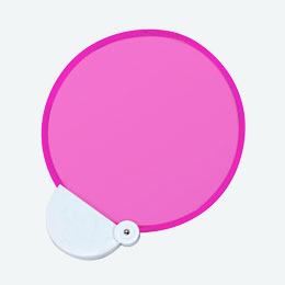 フォールディングファン(カラーズ)(ピンク)