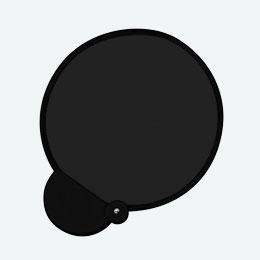 フォールディングファン(カラーズ)(ブラック)
