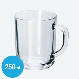 グラス製マグ(250ml)(クリア)