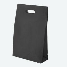 不織布マチ付きバッグ(小判抜き)(黒)