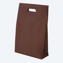 不織布マチ付きバッグ(小判抜き)(チョコレート)