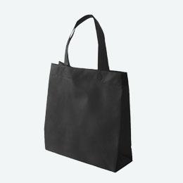 不織布マチ付きスクエアバッグ(黒)