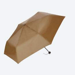 折りたたみ傘(55cm×6本骨耐風仕様)(ベージュ)