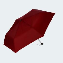 折りたたみ傘(55cm×6本骨耐風仕様)(レッド)