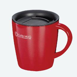 陶器調真空断熱マグカップ(330ml)(赤)