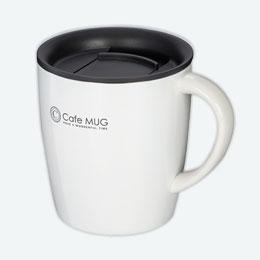 陶器調真空断熱マグカップ(330ml)(白)