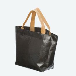 不織布コーティングバッグ(横中)(黒)