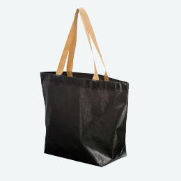 不織布コーティングバッグ(横大)(黒)