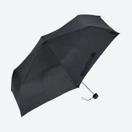 折りたたみ傘(55cm×6本骨)(黒)