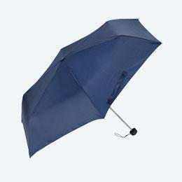 折りたたみ傘(55cm×6本骨)(ネイビー)