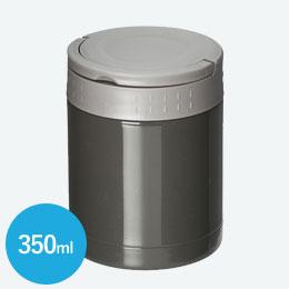 ステンレスフードポット(ハンドル付)(350ml)(黒)