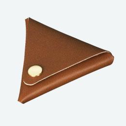 本革三角コインケース(ブラウン)