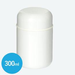 スプーン付ステンレスフードポット(300ml)(白)