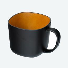 モノトーン木目調マグカップ(280ml)(黒)