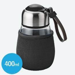 カバー付ガラスタンブラー(400ml)(黒)