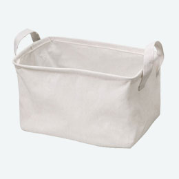 布製収納ボックス(ナチュラル)