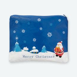 クリスマスポーチ(青)