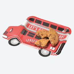 ペーパープレート バス型4枚入