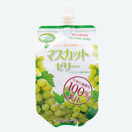 果汁100%飲むフルーツゼリー マスカット