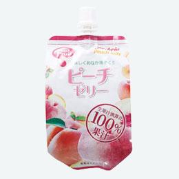 果汁100%飲むフルーツゼリー ピーチ