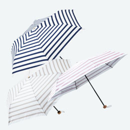 カジュアルボーダー・晴雨兼用折りたたみ傘