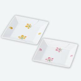 彩桜・正角皿1P
