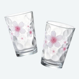 ひらり・桜グラス2P