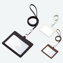 レザーIDカードホルダー(ネックストラップ付)