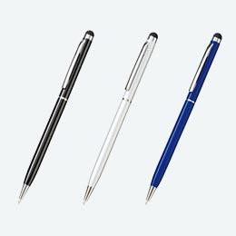 タッチペン付メタルスリムペン