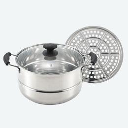 IH対応たっぷり鍋(蒸し皿付き)28cm