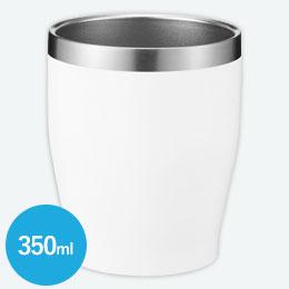 真空ステンレスカラータンブラー350ml 1個(ホワイト)