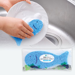 プラスチックスマート 環境にやさしいおさかなセルローススポンジ