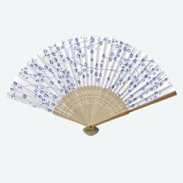 すす竹和扇子 青舞桜