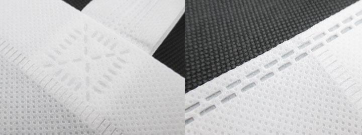 不織布A4トートバッグ(V010365)持ち手圧着部分イメージ
