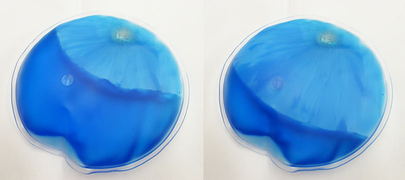 リサイクルエコカイロ(V010352)結晶化進行イメージ