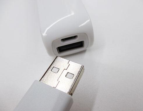 ポケットバッテリー2000(V010357)充電用差し込み部分イメージ