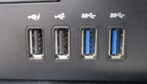 ポケットバッテリー2000(V010357)/パソコンのUSBポートイメージ