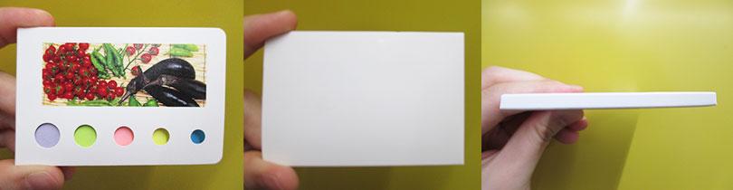 カバー付きフセンメモ(V010121)表面・背面・側面イメージ